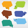 Origami speech bubble collection of vector eps Royalty Free Stock Photos