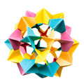 Origami star electra sphere Royalty Free Stock Photo