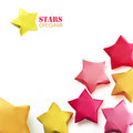 Origami stars group Stock Photography