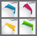 Origami style speech bubbles for corners Stock Photography