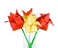 Origamis tulips traditional art of japan Stock Image