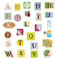 The original alphabet from bright abstract letters Royalty Free Stock Photos