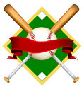 Original baseball logo Royalty Free Stock Images