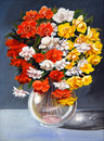 Original begonias painting Stock Photography