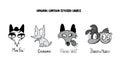Original cartoon stylised labels.