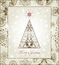 Original Christmas Tree Card. EPS 10 Stock Image