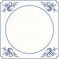 Original design of a delft blue tile