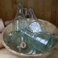 Original empty glass bottles Royalty Free Stock Photo
