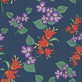 Original floral seamless pattern Royalty Free Stock Photography