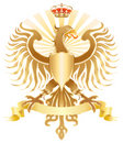 Original golden eagle crest Stock Photography