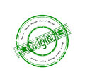 Original green and grunge stamp Royalty Free Stock Photography