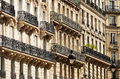 Original historic parisian architecture Royalty Free Stock Photography