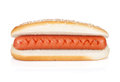 Original hot dog isolated on white background Royalty Free Stock Photo