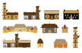 Original houses, icons, signs, vector Royalty Free Stock Image