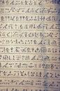 Original manuscript of egyptian hieroglyphs Royalty Free Stock Photography