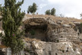 The original mountain golgotha in jerusalem weher jesus chris was crucified Stock Photos