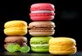 Original paris macaroons delicious french pastries Royalty Free Stock Photos