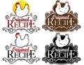 Original Recipe Seal / mark / icon. hen version Royalty Free Stock Photography