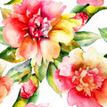 Original seamless wallpaper watercolor illustration Royalty Free Stock Photo