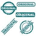 Original stamps Royalty Free Stock Photo