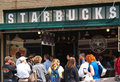 The original Starbucks store in Seattle Royalty Free Stock Image