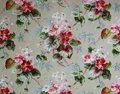 Original textile fabric ornament of the Modern style. Crock is hand-painted with gouache. Royalty Free Stock Photo
