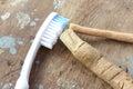 Original toothbrush miswak with modern toothbrush
