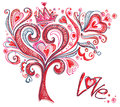 Original tree of love. Royalty Free Stock Photos