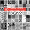Original vector seamless pattern fifty texture backgrounds Royalty Free Stock Photo
