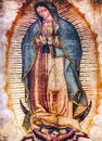 Original Virgin Mary Guadalupe Painting New Basilica Shrine Mexico City Mexico Royalty Free Stock Photo