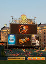 Oriole park at camden yards the scoreboard orioles home of the baltimore orioles in baltimore maryland Royalty Free Stock Image
