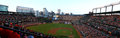 Orioles park at campden yards panoramic view of home of the baltimore picture taken on a gameday with the historic Stock Photo