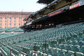 Orioles park at campden yards a view of seats home of the baltimore Stock Images