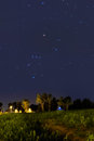 Orion Constellation setting at dusk Royalty Free Stock Images