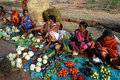 Orissa's tribal people at weekly market Stock Photos