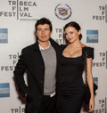Orlando bloom and miranda kerr arrive on the red carpet of the tribeca performing arts center in new york city on april for the Stock Photography