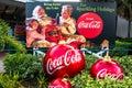 Vintage Santa Claus Coca Cola sign at Seaworld 213 Royalty Free Stock Photo
