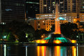 Orlando's Lake Eola Fountain Royalty Free Stock Photo