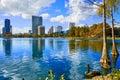 Orlando Skyline Fom Lake Eola ...
