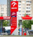 Orlen petrol station vilnius july on july in vilnius lithuania pkn is a major polish oil refiner and retailer pkn Royalty Free Stock Photo