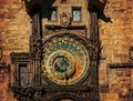 Orloj astronomical clock in prague czech republic dark colors Royalty Free Stock Photography