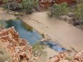 The ormiston gorge in the mcdonnell ranges water hole of west northern territories australia Stock Image