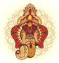Ornament beautiful card with God Ganesha
