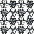 Ornament in black vector flower Stock Image
