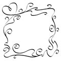 Ornament border with a heart vector illustration of an Royalty Free Stock Photo