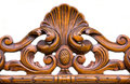 Ornament carved in wood Royalty Free Stock Photo