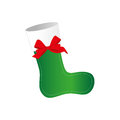 Ornament christmas boots with red ribbon bow