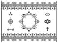 Ornament design elements dividers with fence set of border and floral monograms Royalty Free Stock Image