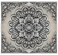 Ornament elements frame, vintage  silver floral Royalty Free Stock Photo