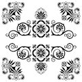 Ornament floral design elements with swirls Royalty Free Stock Photo